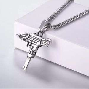- Brand new  UZI GUN Shape necklace